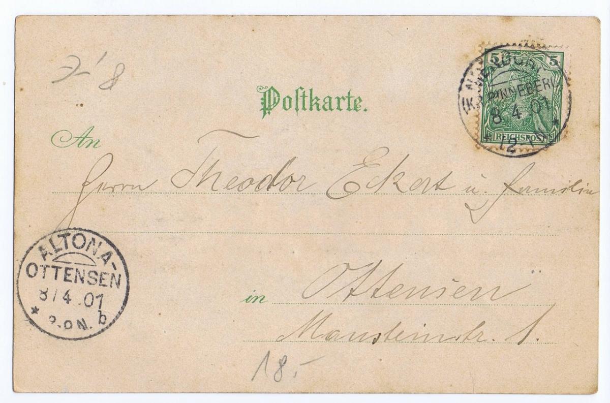 Litho,Gruß aus Hannover,gel.1901  1
