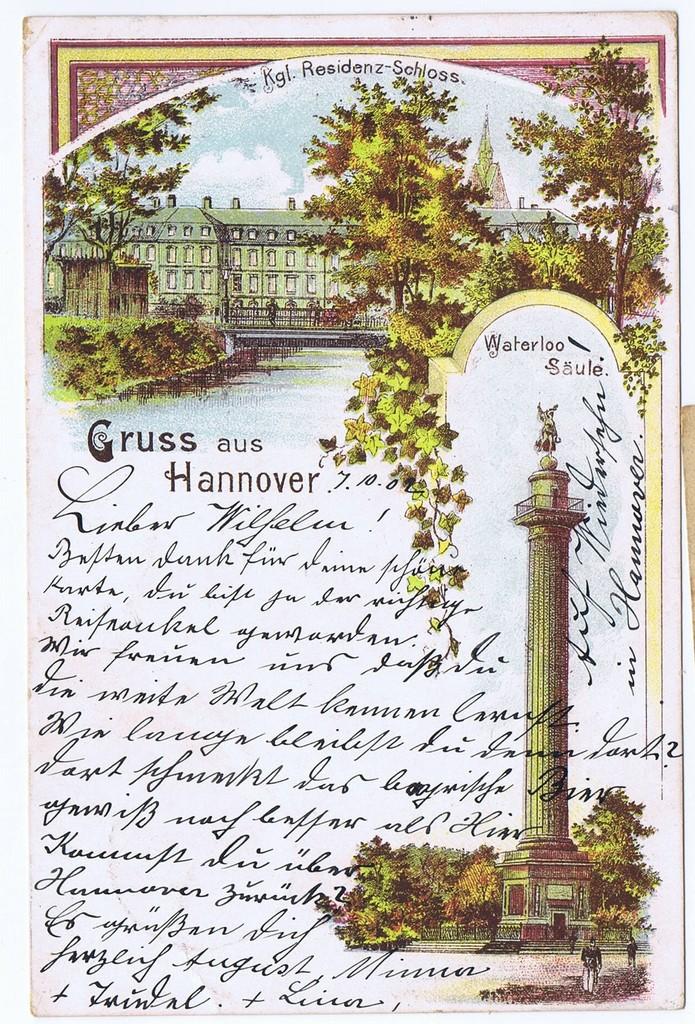 Litho,Gruß aus Hannover,gel.1902 0