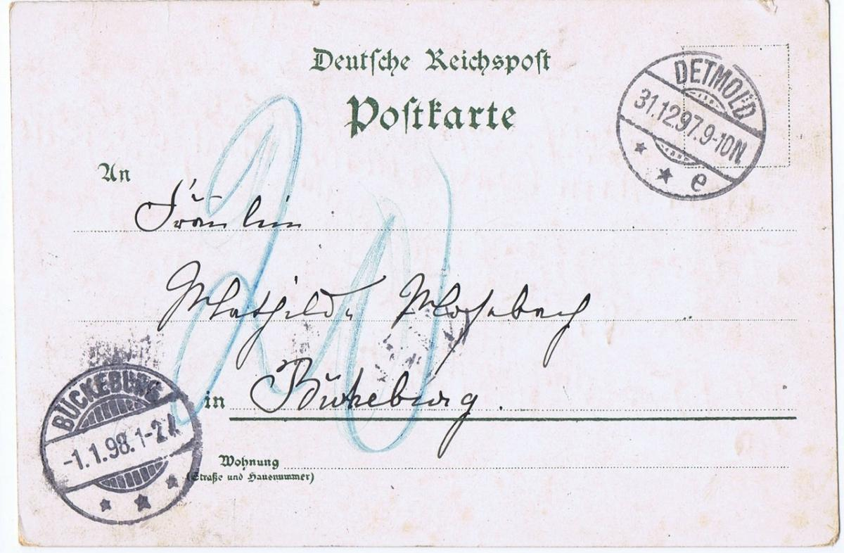 Litho,Gruß aus Stadthagen,gel.1897 1