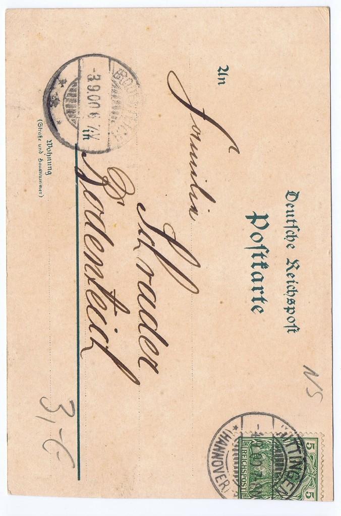Litho,Gruß aus Lüneburger Heide,gel.1900  1