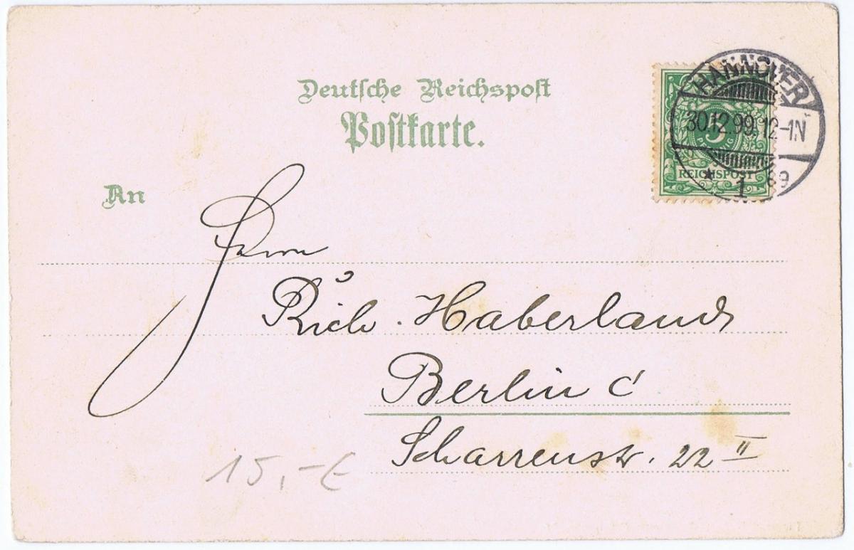Litho,Gruß aus Hannover,gel.1899  1