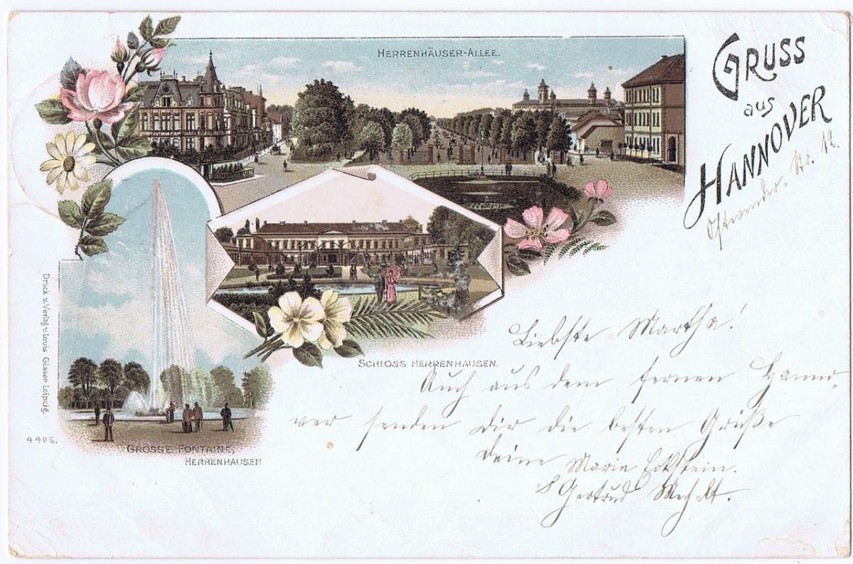Litho,Gruß aus Hannover,gel.1899 0