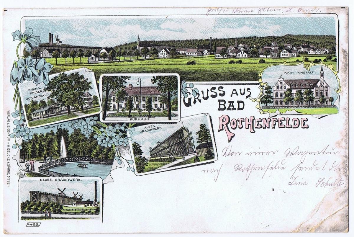 Litho,Gruß aus Rothenfelde,gel.1901 0