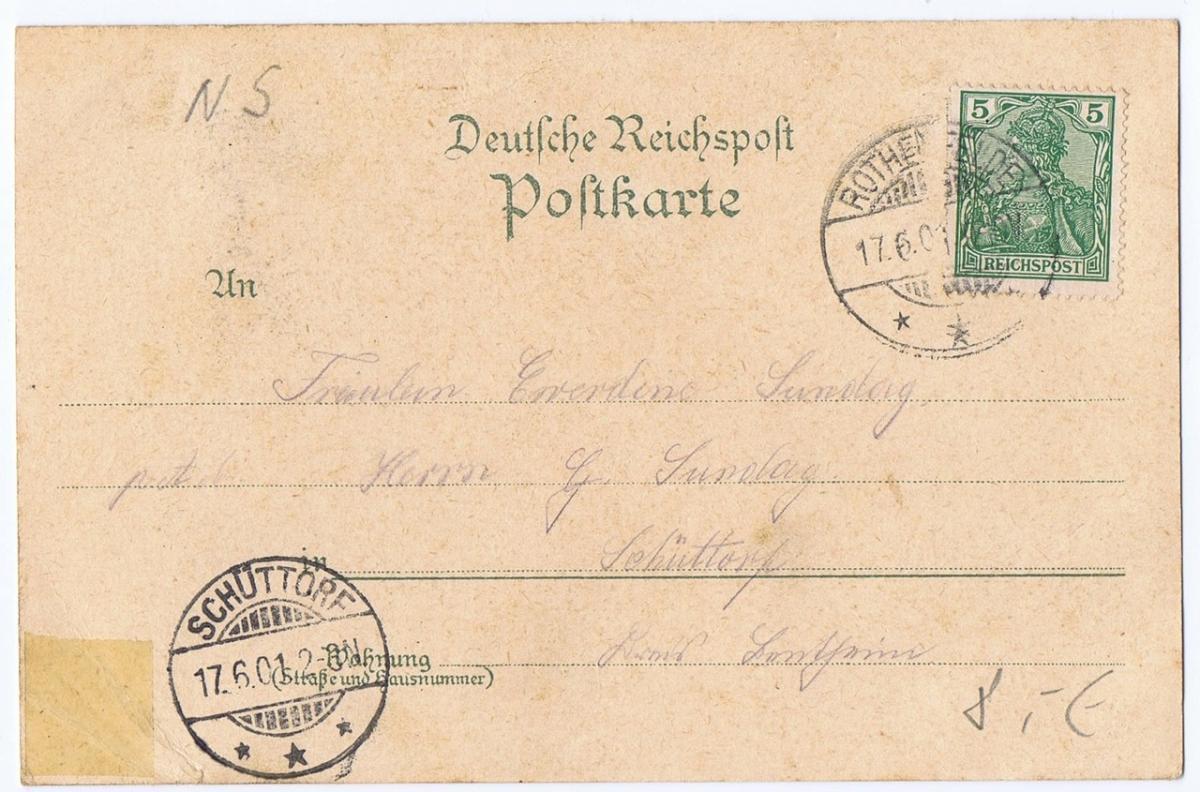 Litho,Gruß aus Rothenfelde,gel.1901 1