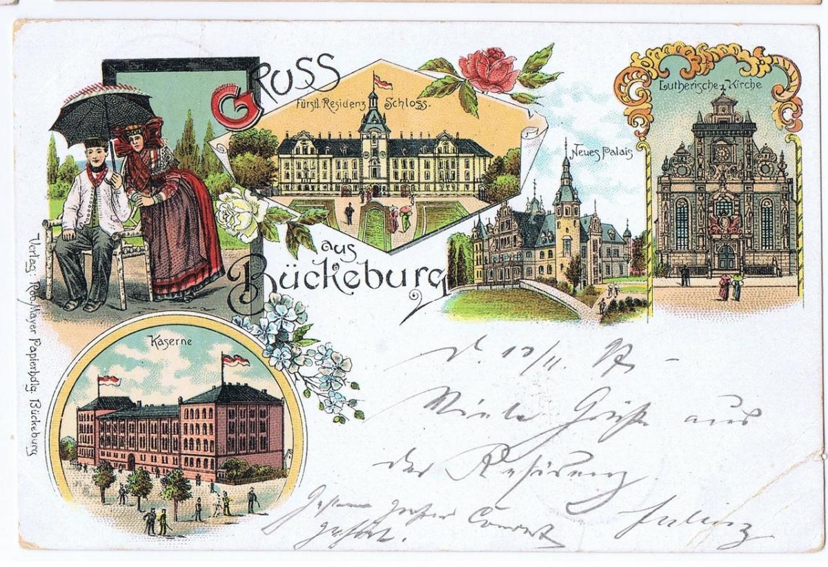 Litho,Gruß aus Bückeburg,gel.1897 0