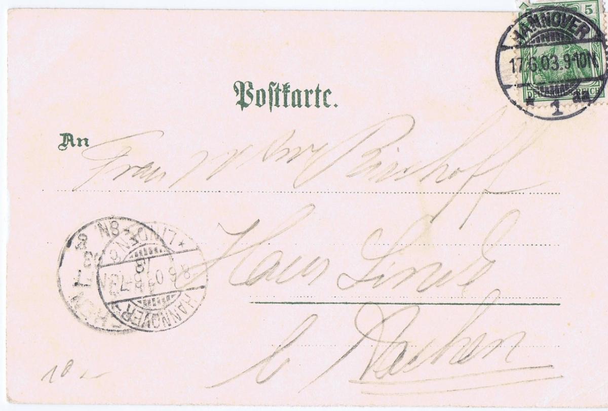 Litho,Gruß aus Hannover,gel.1903  1