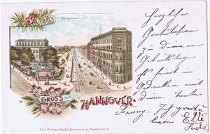 Litho,Gruß aus Hannover,gel.im Brief um 1900