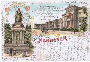 Litho,Gruß aus Hannover,gel.um 1900