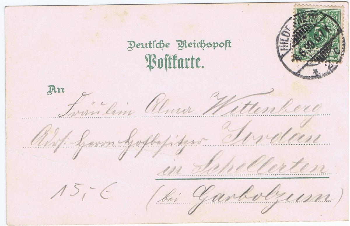 Litho,Gruß aus Hildesheim,gel.1899 1