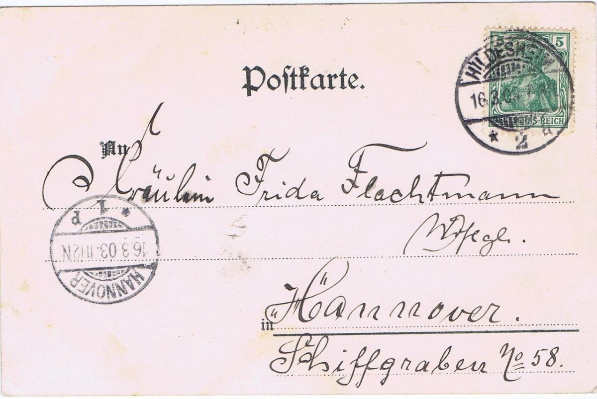 Litho,Gruß aus Hioldesheim,gel.1903 1