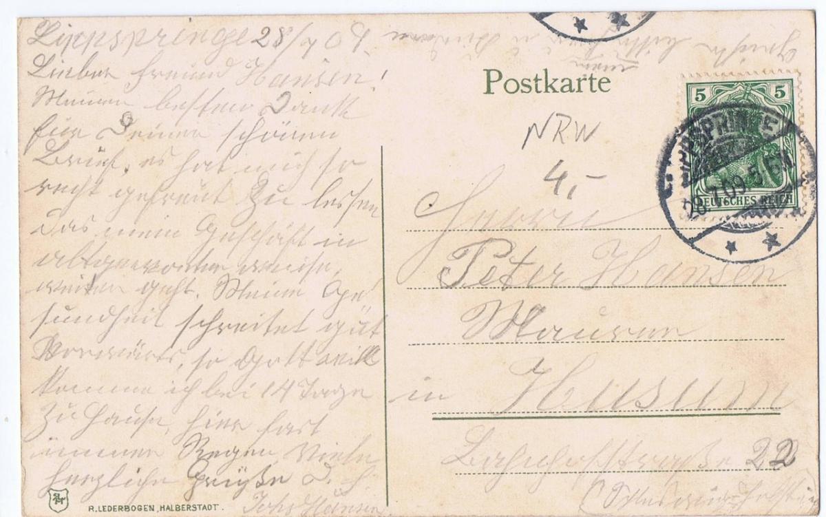 Ruine Lippspringe,gel.1909 1