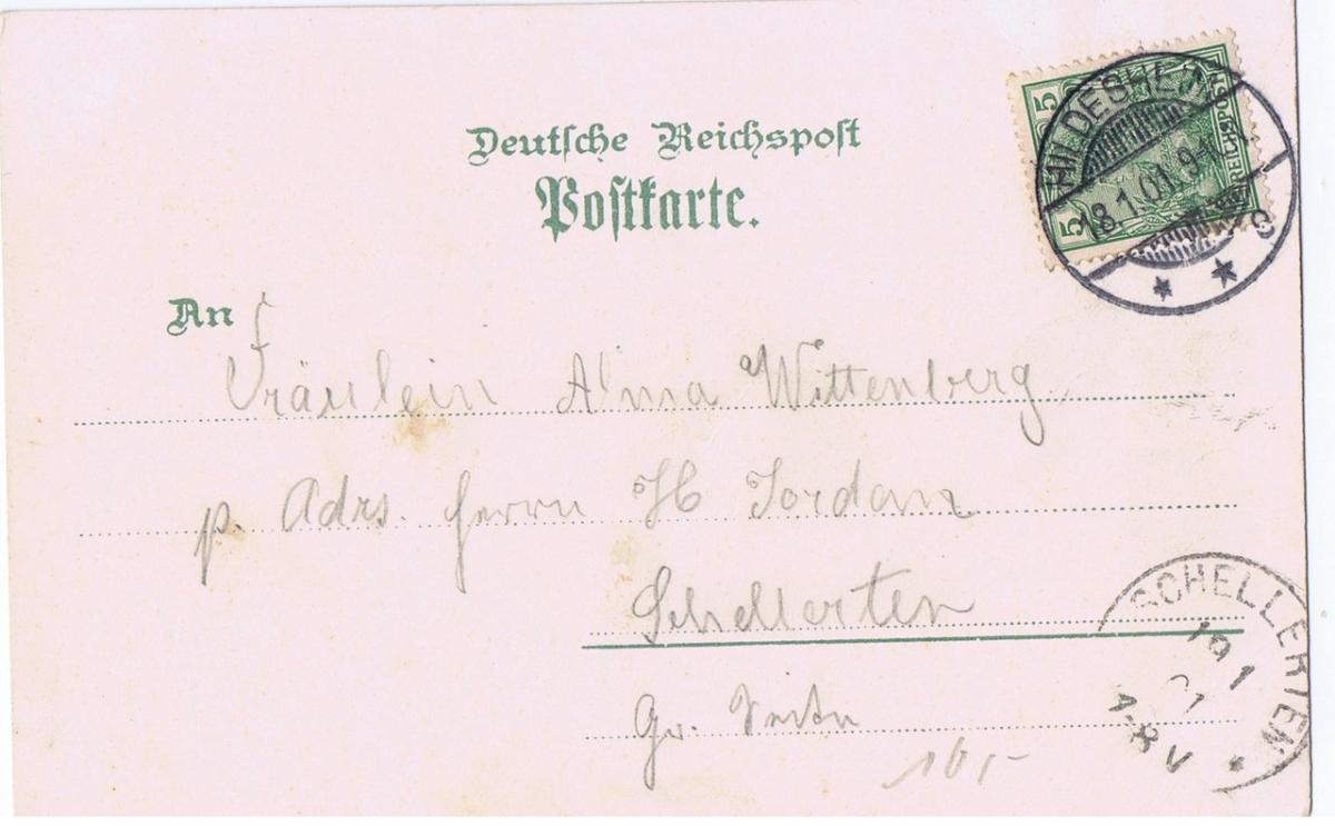 Litho,Gruß aus Hildesheim,gel.1901 1