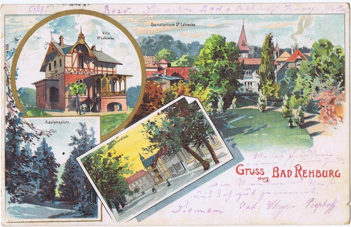 Litho,Gruß aus Bad Rehburg,gel.1916 0