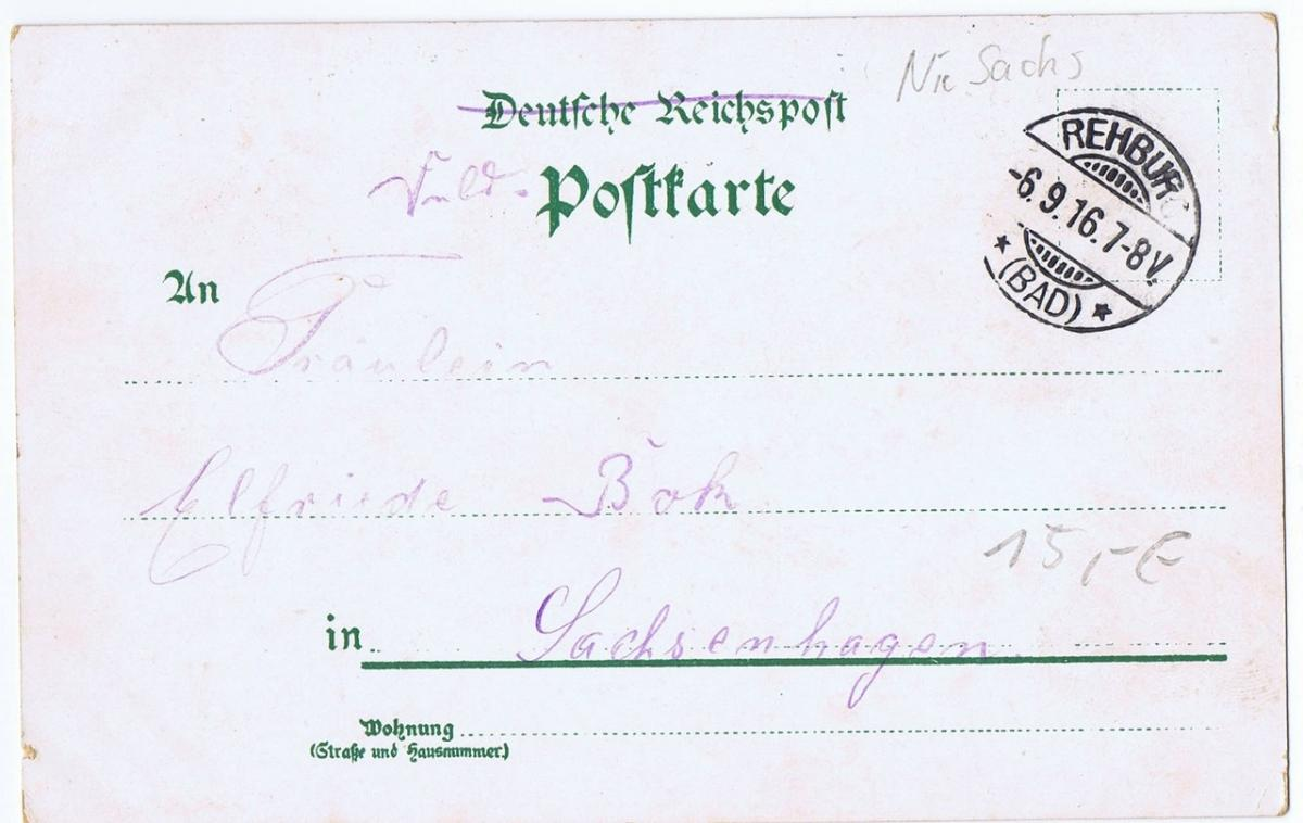 Litho,Gruß aus Bad Rehburg,gel.1916 1