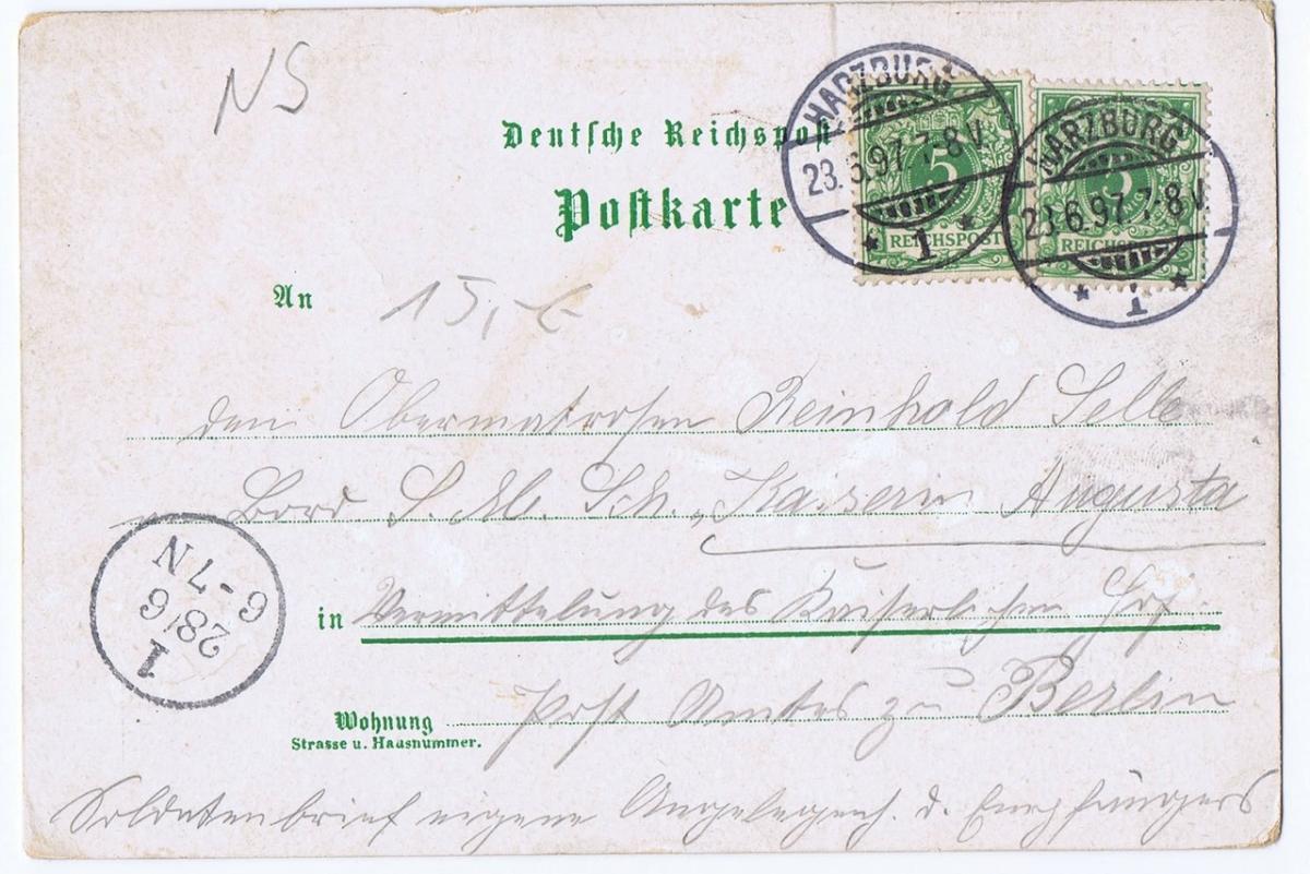 Litho,Gruß aus Bad Harzburg,gel.1897 1