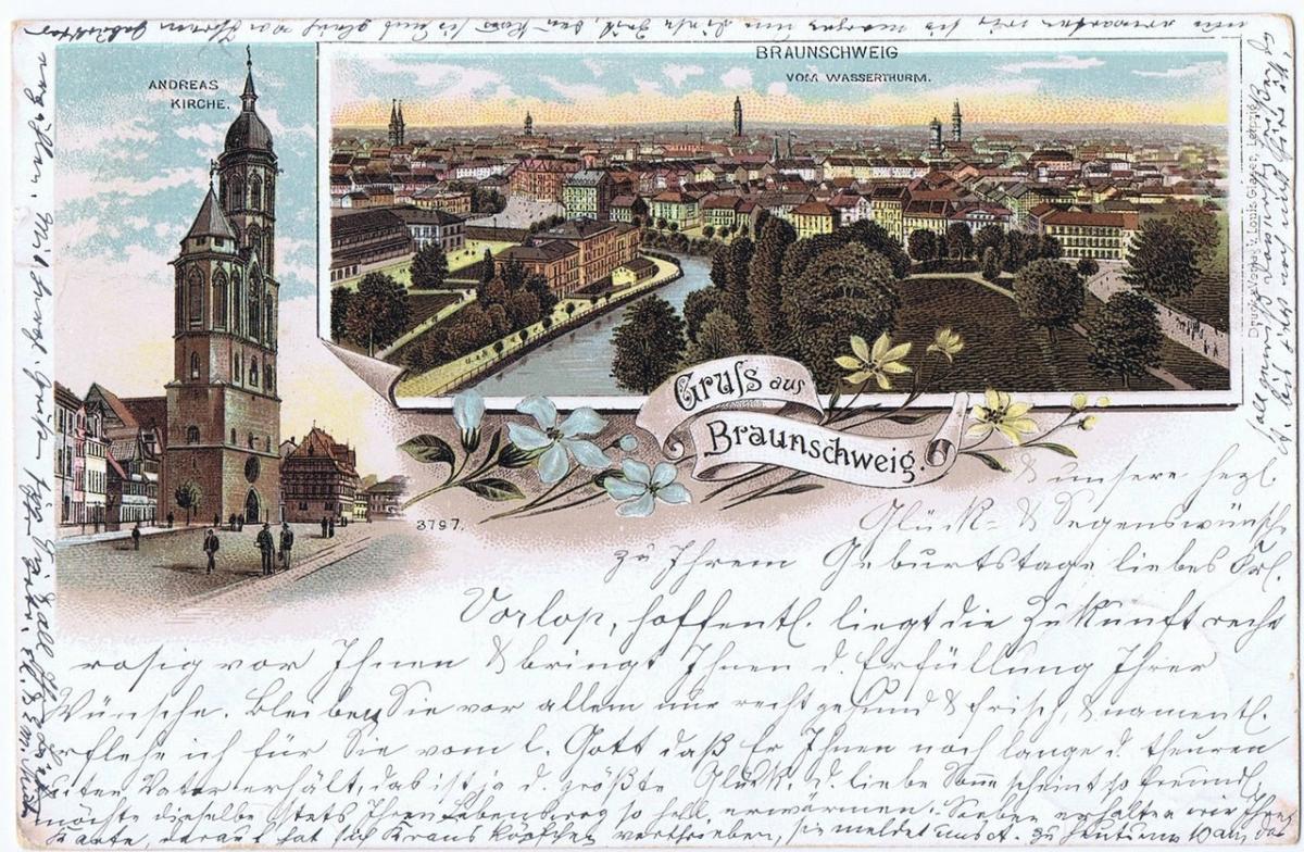 Litho,Gruß aus Braunschweig,gel.1897 0
