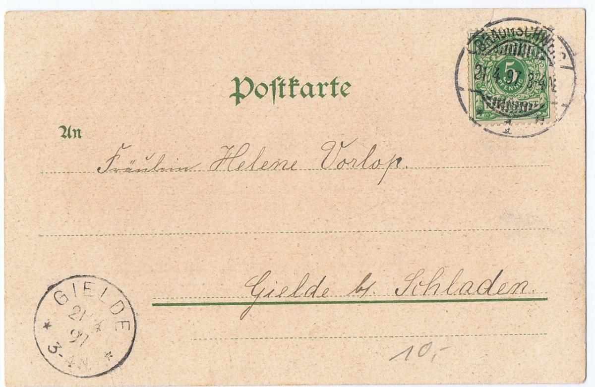Litho,Gruß aus Braunschweig,gel.1897 1