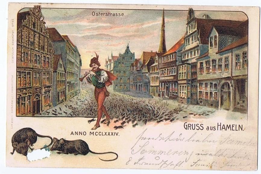 Litho,Gruß aus Hameln 1901 0