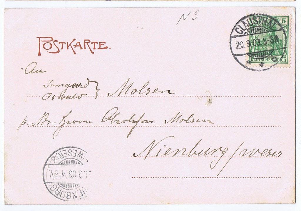 Clausthal gel. 1903 1