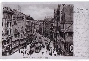 Litho Gruß aus Frankfurt gel.1904