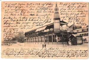 Litho Gruß aus Biebrich  gel. 1903