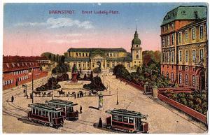 Litho Darmstadt gel.Bahnpost 1921