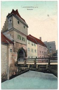 Litho AK Landsberg am Lech gel.1911