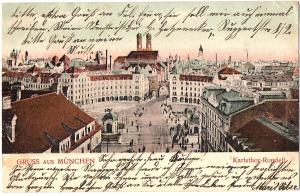 Litho AK Gruß aus München gel.1904