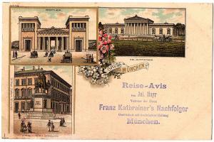 Litho AK Gruß aus München gel.1899
