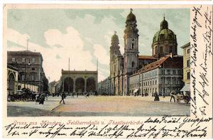 Litho AK Gruß aus München gel.1902