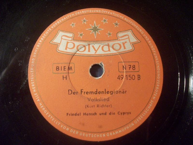 Friedel Hensch Und Die Cyprys - Oh Jägersmann / Die Alte Mühle Im Park Von Sanssouci