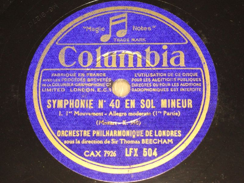 THOMAS BEECHAM with Orch.