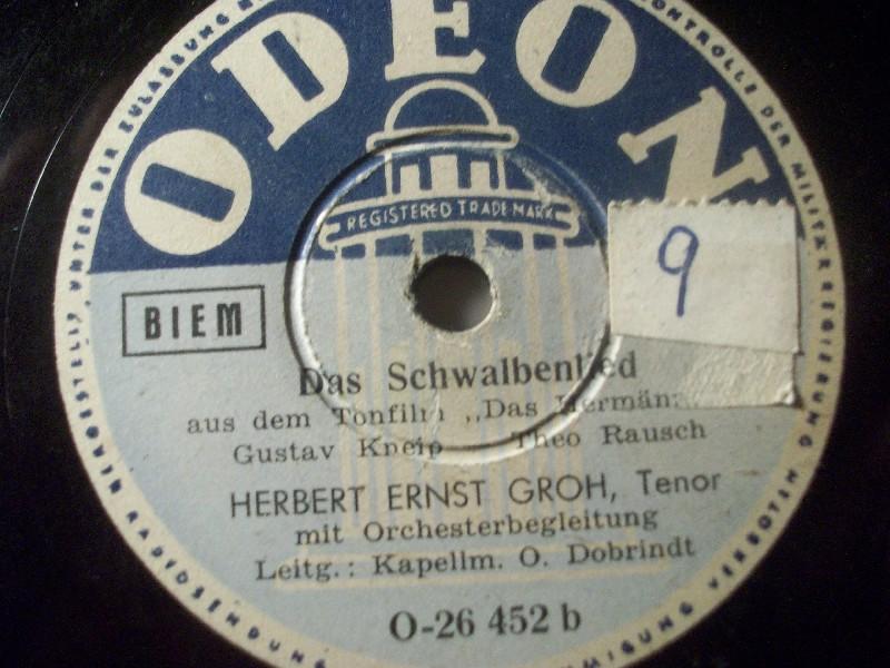 HERBERT ERNST GROH, Tenor