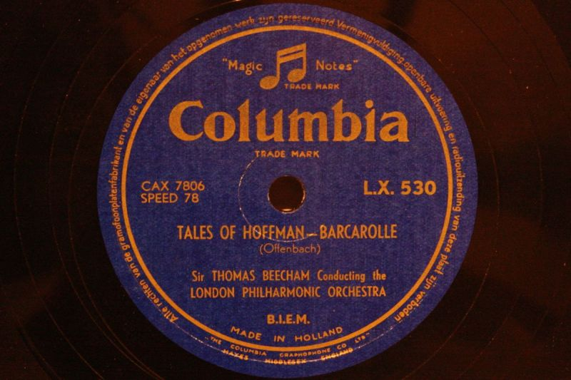 SIR THOMAS BEECHAM with Orch.