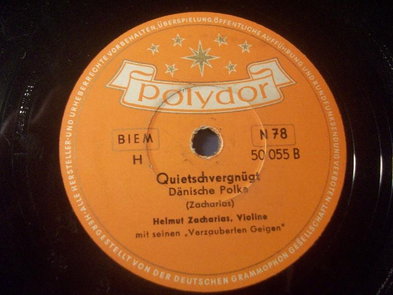HELMUT ZACHARIAS, Violine