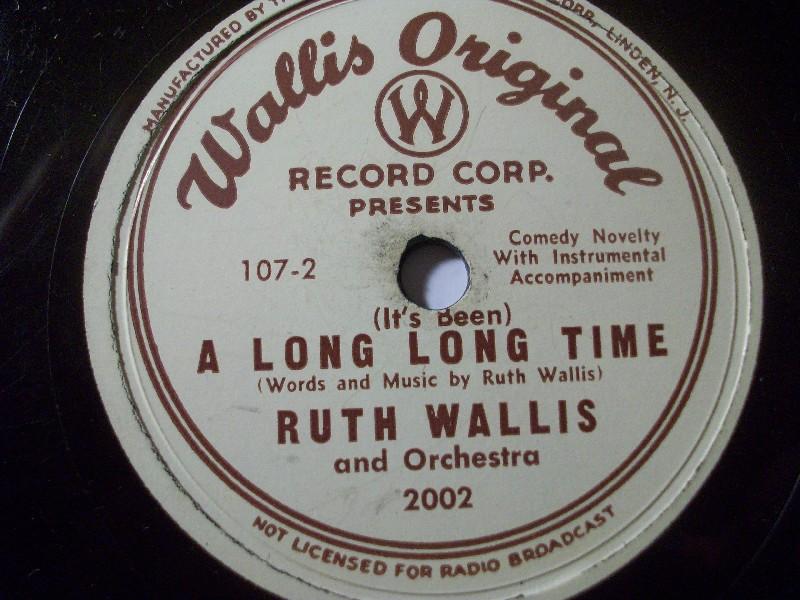 RUTH WALLIS Composer & Cabaret Singer  ultrarare special WALLIS private Lbl. 10