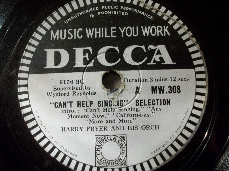 HARRY FRYER & ORCH.
