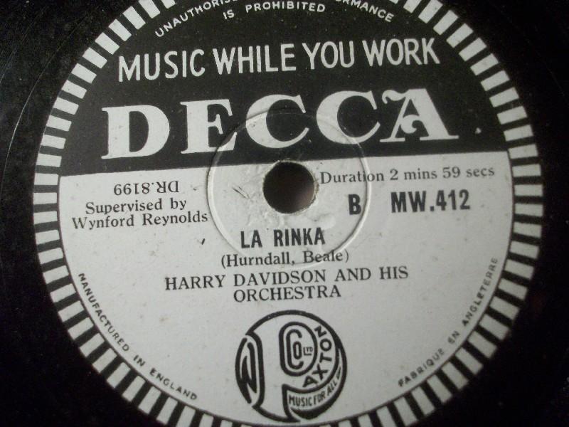 HARRY DAVIDSON & HIS ORCHESTRA
