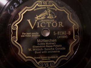 W. WITTICH & SASCHA CORADO, Duet & Orch.