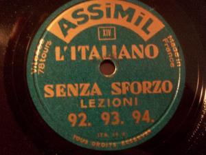 L'ITALIANO - Senza Sforzo Lezioni 92 / 93 / 94 / 95 / 96 / 97  AssiMil 78rpm 10