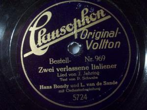 HANS BONDY & LOUIS VAN DE SANDE