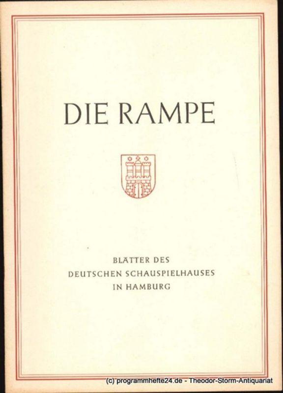 Lippert Albert, Benninghoff Ludwig Die Rampe. Blätter des Deutschen Schauspielhauses in Hamburg Spielzeit 1953 / 54 Heft 1. Romeo und Julia von Shakespeare