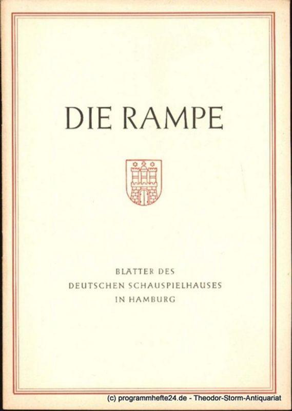 Lippert Albert, Benninghoff Ludwig Die Rampe. Blätter des Deutschen Schauspielhauses in Hamburg Spielzeit 1953 / 54 Heft 4. Macbeth. Eine Tragödie von Shakespeare