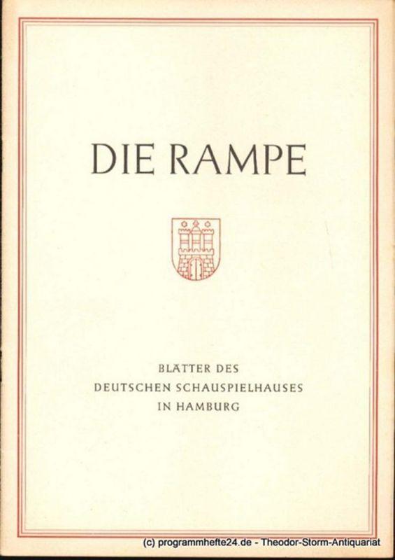 Lippert Albert, Benninghoff Ludwig Die Rampe. Blätter des Deutschen Schauspielhauses in Hamburg Spielzeit 1953 / 54 Heft 2. Griselda. Komödie in 10 Bildern von Gerhart Hauptmann