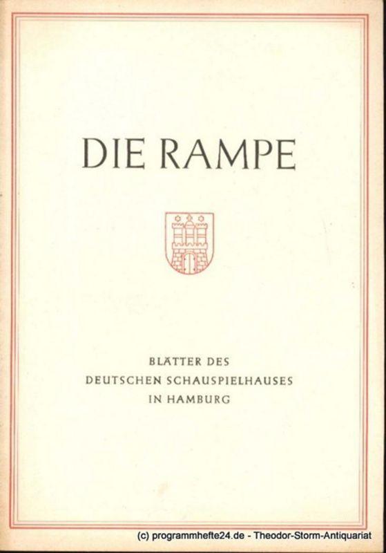 Lippert Albert, Benninghoff Ludwig Die Rampe. Blätter des Deutschen Schauspielhauses in Hamburg. Moral. Komödie in drei Akten von Ludwig Thoma