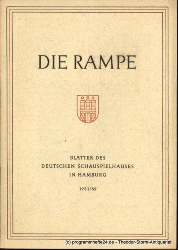 Lippert Albert, Benninghoff Ludwig Die Rampe. Blätter des Deutschen Schauspielhauses in Hamburg Spielzeit 1951 / 52 Heft 5. Lysistrata. Komödie von Aristophanes