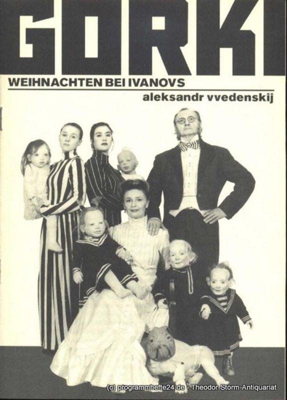 Möckel Manfred, Vvedenskij Aleksandr Weihnachten bei Ivanovs. Premiere am 14. Dezember 1995 in der Studiobühne. Programmheft