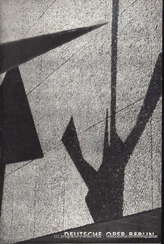 Illica L., Giacosa G., Puccini Giacomo Madame Butterfly. Donnerstag, den 17. November 1966 Programmheft November 1966 Deutsche Oper Berlin. Tagesprogramm Inhaltsangabe Künstlerbilder