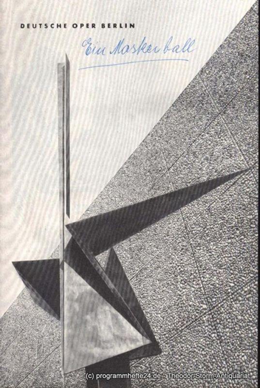 Verdi Giuseppe, Boito Arrigo Falstaff. Sonntag, den 20. Januar 1963 Programmheft 1962 / 1963 Januar Deutsche Oper Berlin. Tagesprogramm Inhaltsangabe Künstlerbilder