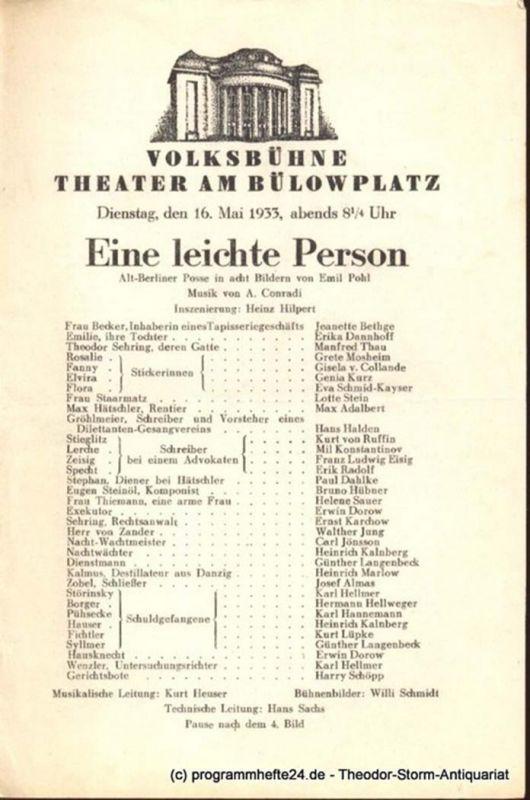 Hauptmann Gerhart Florian Geyer. Die Tragödie des Bauernkrieges in fünf Akten. Sonnabend, den 22. April 1933 Programmheft